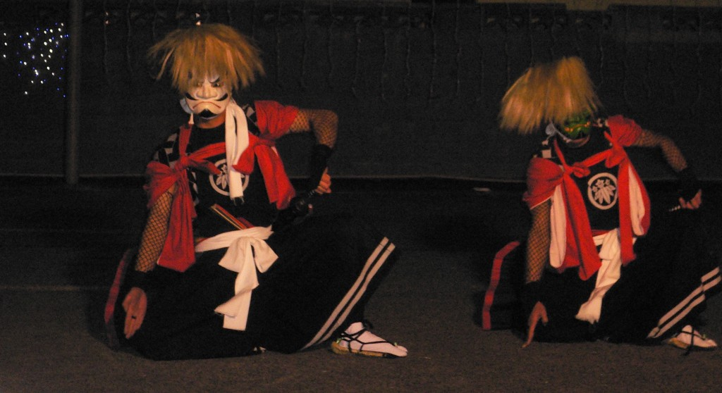 oni dancers in Kitakami